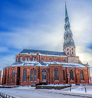 Riga Saint Peter's church from side
