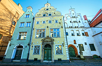 Three Brothers medieval buildings in Riga Old Town