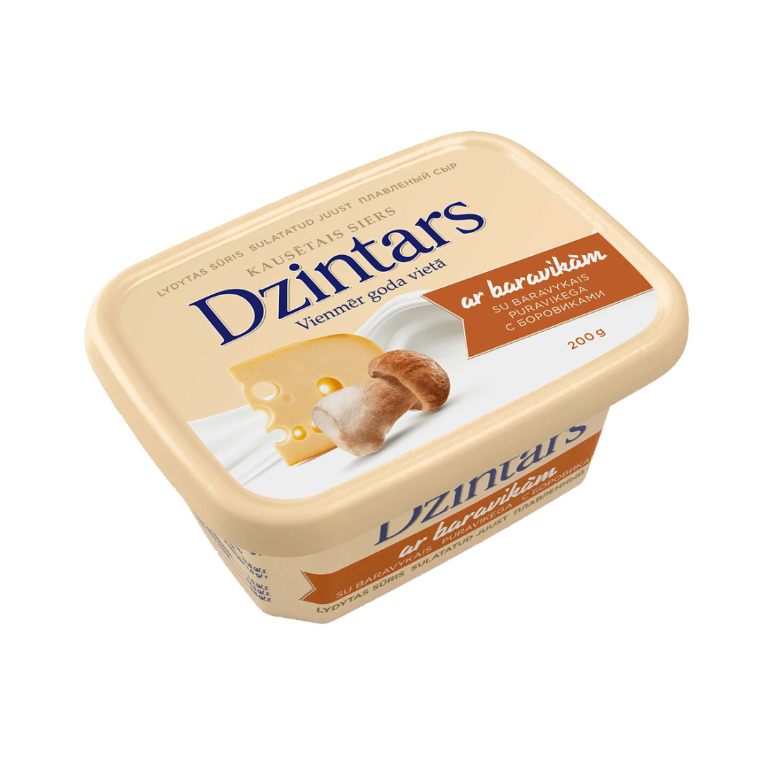 Kausētais siers DZINTARS ar baravikām
