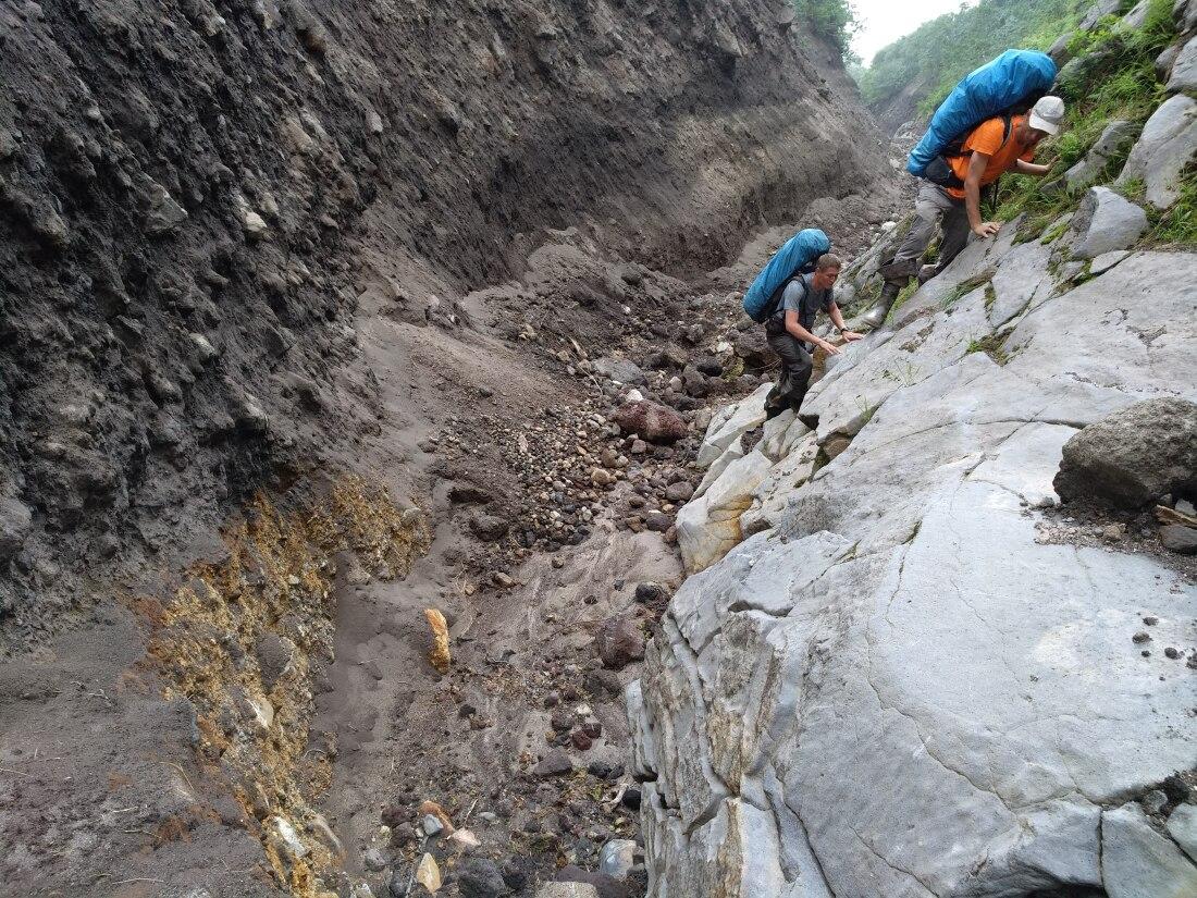 скальник на вулкане баранского