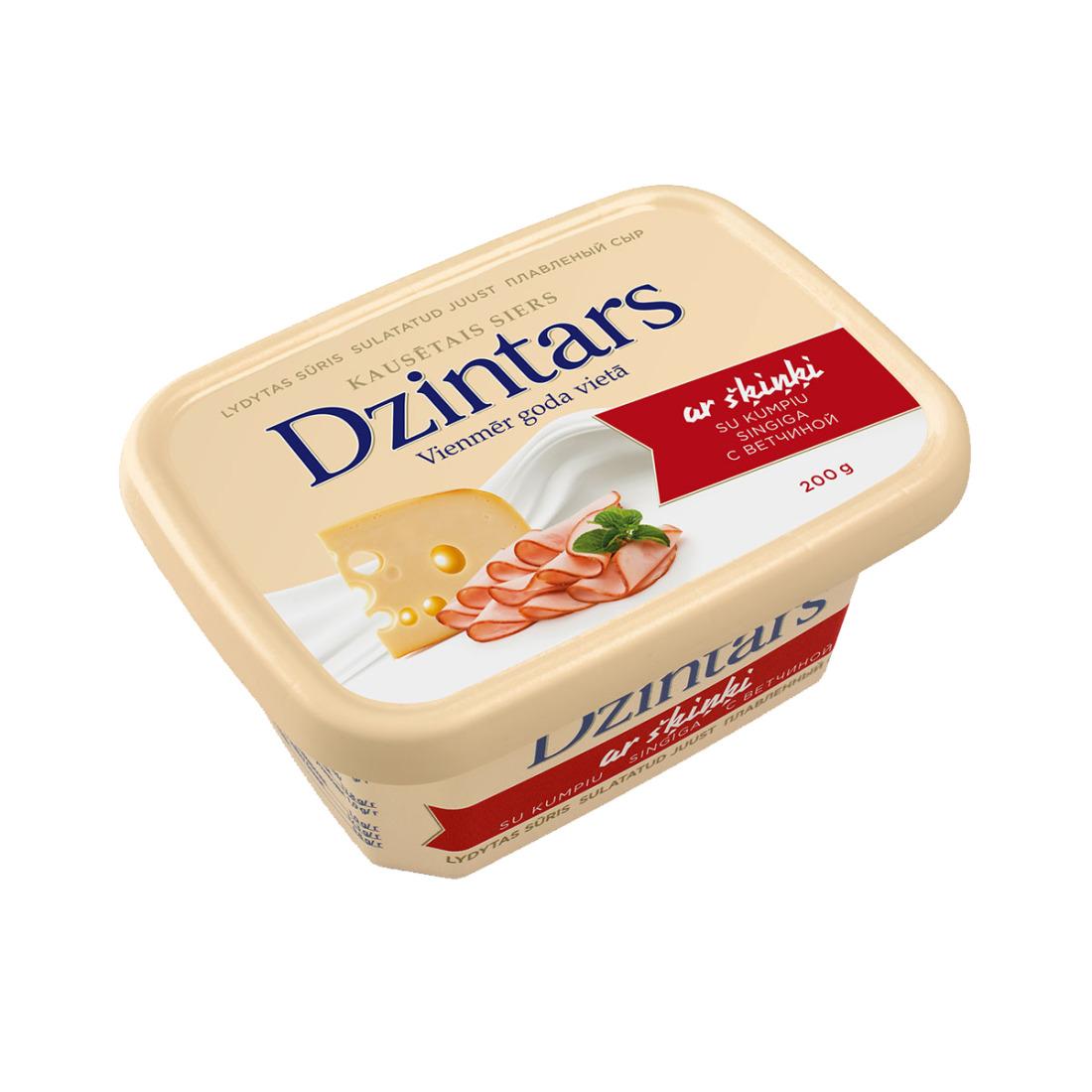 Kausētais siers DZINTARS ar šķiņķi