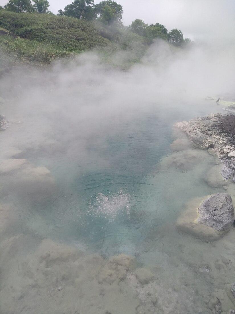 голубые глазки - кипящие озера на Итурупе